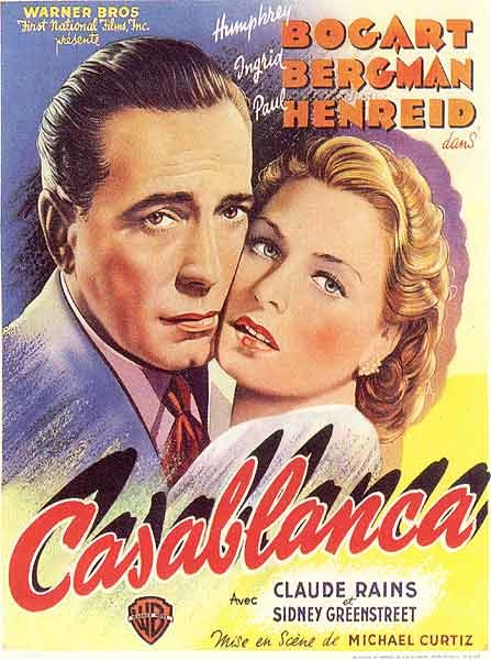 The original French Casablanca movie poster (1942).